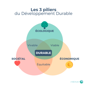 trois piliers développement durable schéma